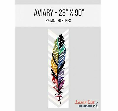 AVIARY FEATHER LASER CUT APPLIQUE KIT & PATTERN, from Laser Cut Quilts NEW