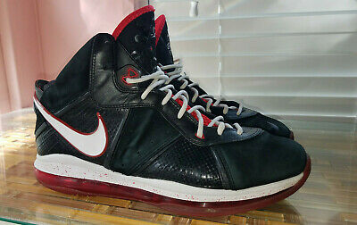 half off ce6ee cbf13 Nike Lebron 8 VIII Black Red Miami Heat Elite 417098-002 Men s Shoe Size  11.5