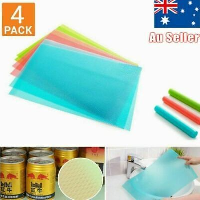 4Pcs Antibacterial Refrigerator Fridge Mat Drawer Liners Washable Kitchen S4