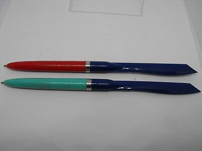 Vintage Ballpoint Pen Plastic with Modeling Knife School Pen 70's  #797