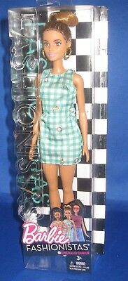 Barbie Collector  Fashionistas Barbie Doll #50 Emerald Check New