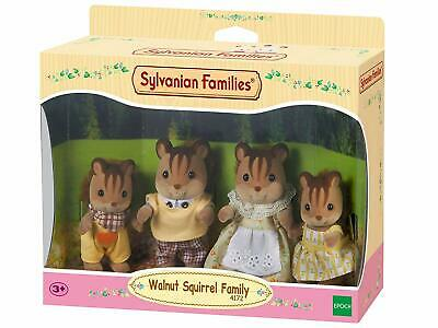 Sylvanian Families Walnut Squirrel Family Posable Collectable Figure 4 Piece Set