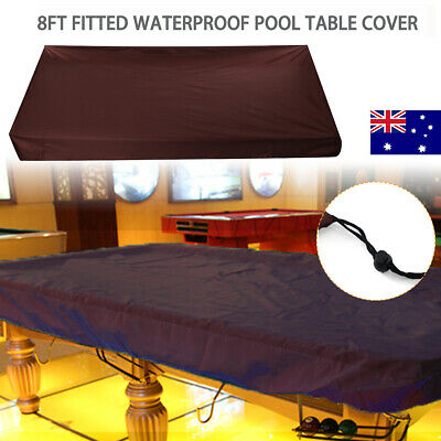 8ft Fitted Pool Snooker Billiard Table Dust Cover Waterproof + Drawing String AU