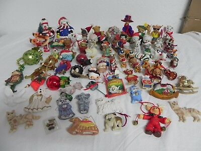 72 Piece Lot of Multiple Animals Christmas Ornaments