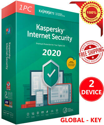 KASPERSKY INTERNET Security 2019 / 2 Pc/ 2 Device / 1 Year / Global Key / 10.35$