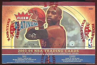 "2003-04 Fleer Platinum Factory-Sealed Basketball Hobby-Box ""Wax+Jumbo"",Lebron-Rc"