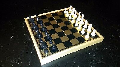 Magnetic Travel 3-in-1 Combo Chess/Checkers/Backgammon Set VG Complete