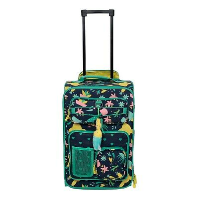 """NEW Travel Suitcase Crckt 18"""" Kids Carry On Suitcase Cactus hold Water Bottle"""
