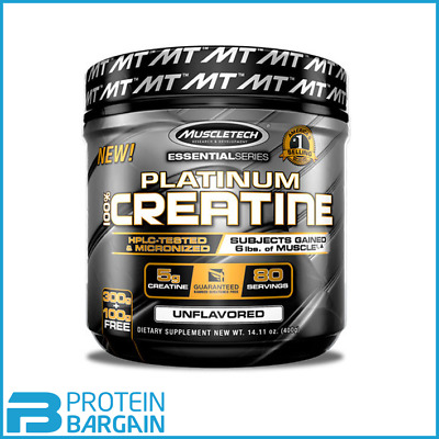 MuscleTech - Platinum 100% Micronised Creatine - 400 grams - 80 Servings