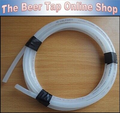 "Valpar 5/16"" Outside Diameter Clear Beer Line / MDPE Pipe (8mm OD 5.4mm ID) - UK"