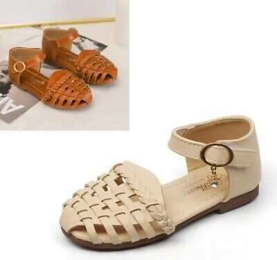 Toddler Girls Summer Shoes Cut Out With Soft Leather Kids Children Beach Sandals