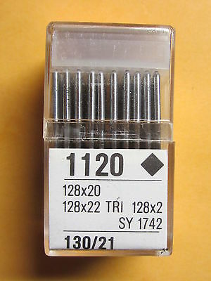 100-128x2, 128x20, 128x22 Leather Sewing Machine Needles sz 21  Singer