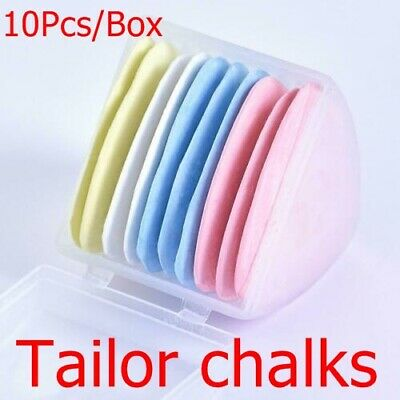 10Pcs Colorful Markers Patchwork Dressmaker Fabric Chalk Tailors Erasable Sewing