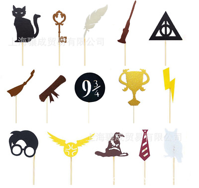 15pc Harry Potter Happy Birthday cupcake topper Party SUPPLY Decoration