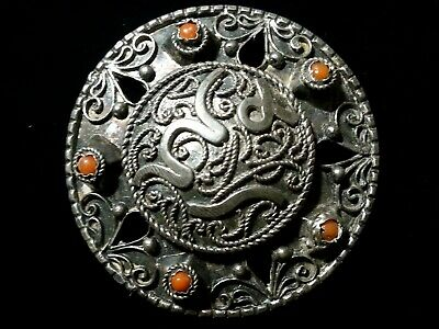 Antique arabic islamic silver brooch