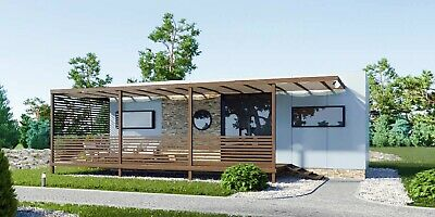 Two Bedroom Mobile Home All Year Long Prefabricated, Energy Efficient All-Season