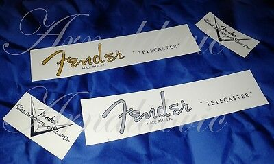 2 x Decalcomania Decal Fender Telecaster Chitarra Guitar American standard