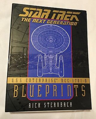 Star Trek The Next Generation Blueprints USS Enterprise NCC-1701-D New (opened)