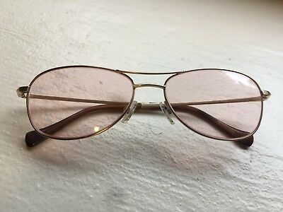 70f186ce57 LUCKY BRAND AVIATOR Sunglasses New Authentic Keyhole Recruiter Brown ...