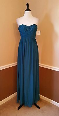 deb87f0c893 Modcloth NWT  230 Donna Morgan 2 Jade Teal Strapless Maxi Dress Formal Sway