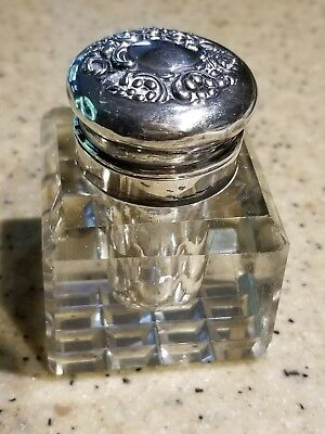 Antique Sterling Silver Inkwell