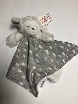 685fad435 New Carters Just One You Baby Security Blanket Lamb Lovie Gray & White  Clouds
