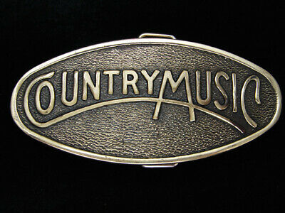 Pl21112 Vintage 1977 **Country Music** Commemorative Brasstone Belt Buckle