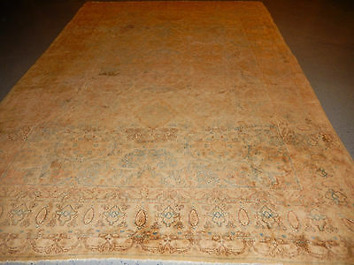 Antique Persian rug circa 1930s fine carpet Lovely handmade soft colors 8.2x11.6