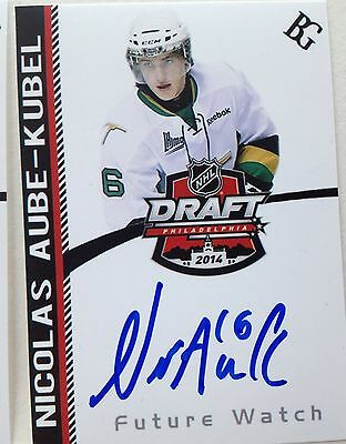 Nicolas Aube-Kubel SIGNED Custom Photo Card VAL D'OR / PHILADELPHIA FLYERS