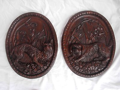 PAIR OF ANTIQUE FRENCH CARVED OAK WOOD PANELS,LATE 19th CENTURY.