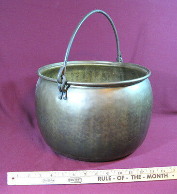 Antique Brass Planter / Pot, Hand Forged, 13½ inches, Good to VG, RL1