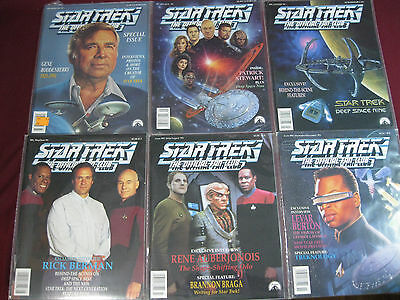 (6 Issues) Star Trek The Official Fan Club Magazine 1992-93 Roddenberry TNG DS9
