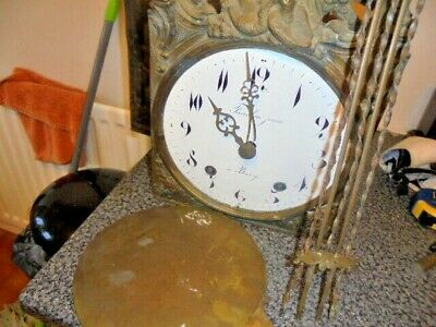 antique french comptoise wall clock