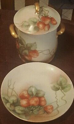Antique Austria Princess Louise Two Handled Condensed Milk/Jelly Cover