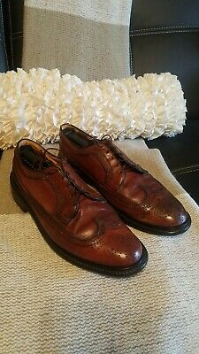 e7e77c65b37cb JC PENNEY SHOE Classics VTG Vintage Men s Brown Wing Tip Dress Shoes ...