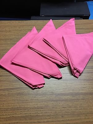 PINK Cloth Dinner Napkins For Wedding Party, Catering, or Restaurant - 6 per set