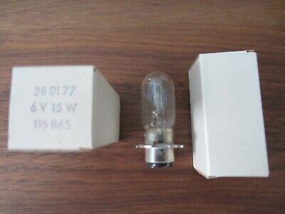 Osram 8017 6v 15w bulb in orig box. Replacement lamp for microscope.
