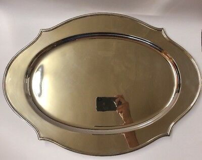 Antique Shreve & Co STERLING Silver San Francisco Large Server Tray Art Deco Exc