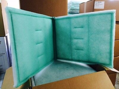 "20"" x 48"" Bi-Fold Series 55 Tacky Intake Filter Spray Paint Booth - Case 10"