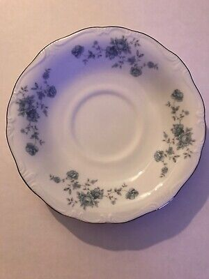 Lot Of 4 Johann Haviland Bavaria Germany Blue Garland Tea Coffee Saucers Vintage