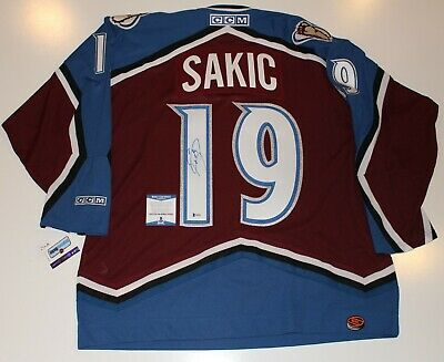online store 601fb a3c0e JOE SAKIC SIGNED Colorado Avalanche Stanley Cup Limited ...