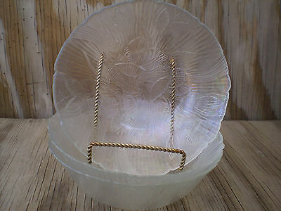 Arcopal France Canterbury Crocus Clear Soup, Cereal Or Salad Bowls Set Of 3.
