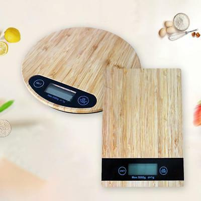 5kg Wood Grain ABS Digital LCD Electronic Kitchen Cooking Food Weighing Scale