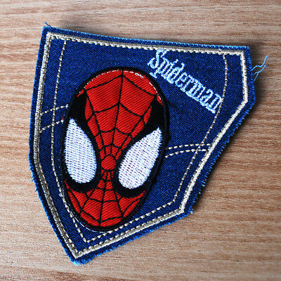 SPIDERMAN Face Embroidered Vintage Camping Outdoor Patch Badge Emblem