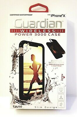online retailer 90e81 89aa4 TZUMI IPHONE X Waterproof Case & Guardian Power 3000 2-in-1 ...