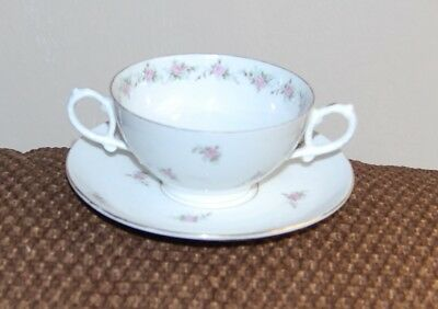 Double Handled Cup And Saucer - Austria