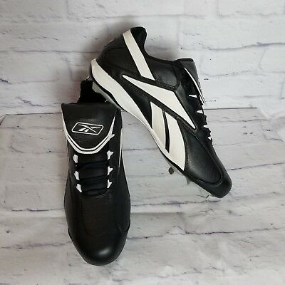aef7cd85bc5 Reebok Authentic Men s Baseball Cleats Size 16 Metal Vero FL M6 Low  Black White