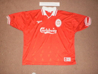 bc16a3e9ec8 Vintage Liverpool FC Sponsored Soccer Football Jersey-Size 50 52