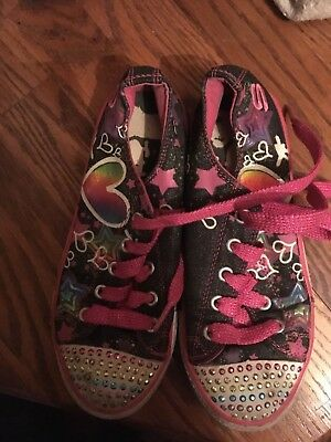 Skechers Kids Girls Twinkle Toes Lil Superstyle Light-Up Shoes 10285L Size 2