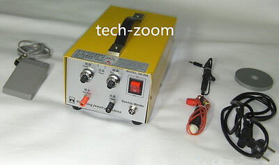 Pulse Sparkle Spot Welder 200W Jewelry Welding Machine Gold Silver Platinum TN